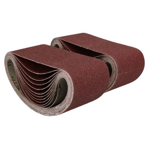 457mm x 75mm Mixed Grit Abrasive Sanding Belts Power File Sander Belt 100 Pack