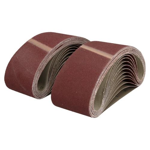533mm x 75mm Mixed Grit Abrasive Sanding Belts Power File Sander Belt 50 Pack