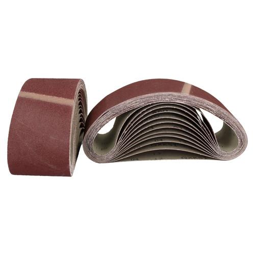 533mm x 75mm Mixed Grit Abrasive Sanding Belts Power File Sander Belt 75 Pack