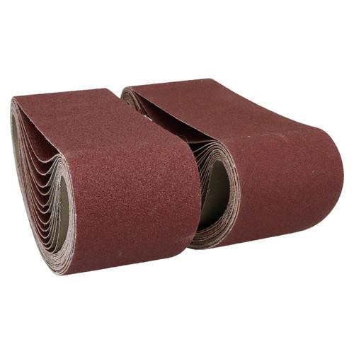 533mm x 75mm Mixed Grit Abrasive Sanding Belts Power File Sander Belt 100 Pack