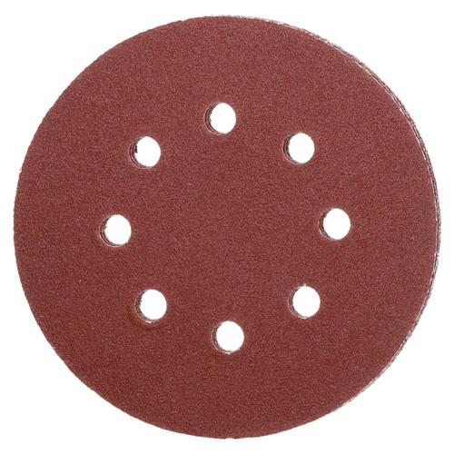 "125mm 5"" Hook And Loop Sanding Sander Abrasive DA Discs Medium 80 Grit 5pc"