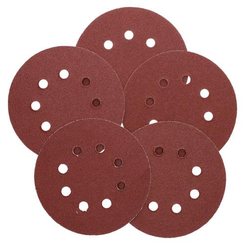 "125mm 5"" Hook And Loop Sanding Sander Abrasive DA Discs Medium 80 Grit 50pc"