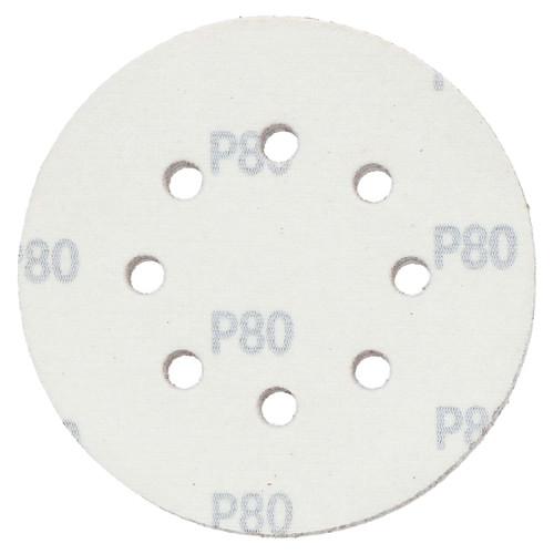 "125mm 5"" Hook And Loop Sanding Sander Abrasive DA Discs Medium 80 Grit 15pc"
