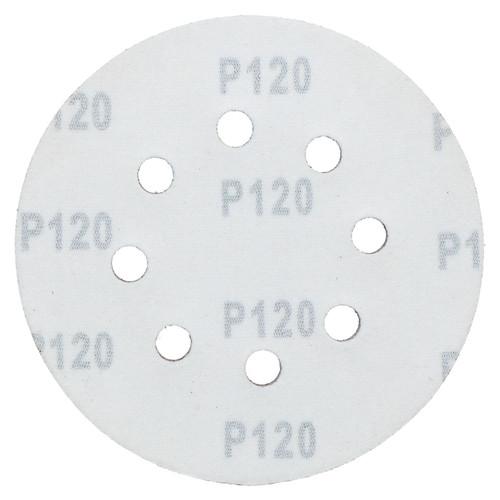 """125mm 5"""" Hook And Loop Sanding Sander Abrasive DA Discs Fine 120 Grit 50pc"""
