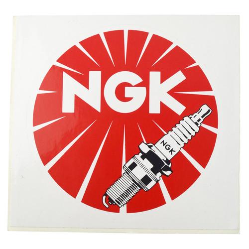 6 Pack NGK Spark Plug Adhesive Stickers