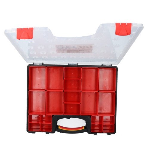 Tool Storage Case with 20 Removable Compartments Organiser Plastic Case Holder