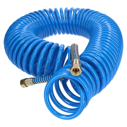 15 Metres Recoil Airline Air Hose 1/4 BSP Compressor Hose with Airline Fittings