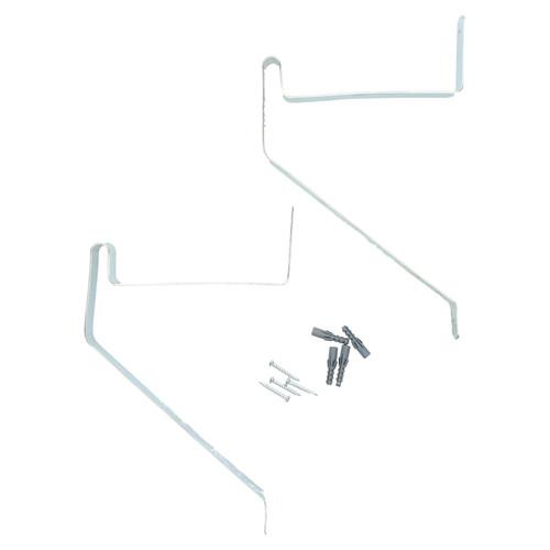 2pc Ladder Push Bike Tool Garage Shed Hook Set Holder Hangers hanging