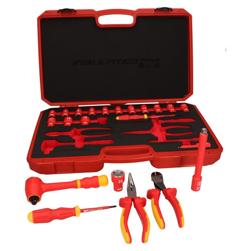 "3/8"" Drive Insulated VDE Tool Socket and Accessory Kit 22pc Metric GS Approved"