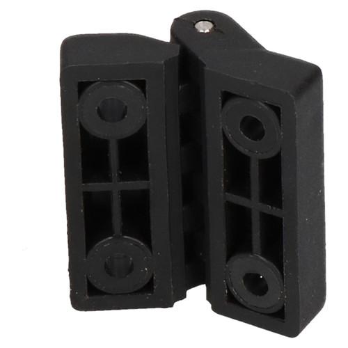 2 Pack Black Polymide Hinge Reinforced Plastic 39x39mm Italian Made Industrial
