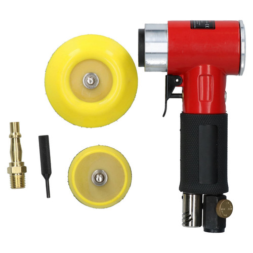 """2"""" and 3"""" Mini Orbital Air Angle Grinder Polisher With Backing Pad Dual Action"""