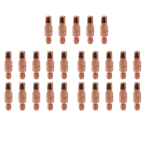 2 shroud & 25 x 1.0mm Round Contact Tips MIG Welding Binzel Style MB15 Torch