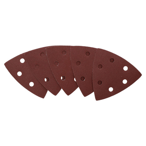 Hook Loop Delta Sanding Abrasive Discs Pads 93mm Triangle 120 Grit Fine 25pc