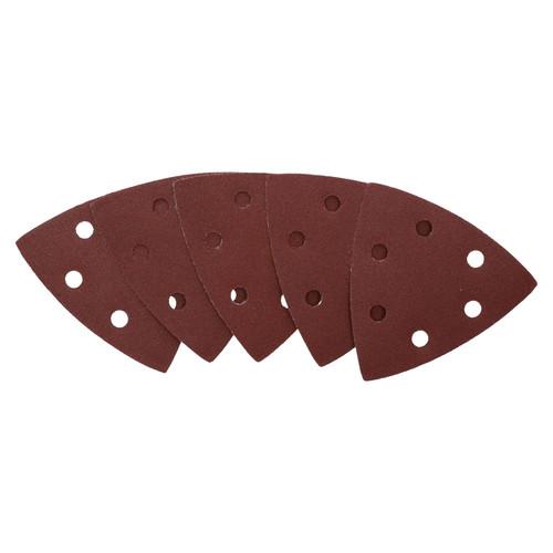 Hook Loop Delta Sanding Abrasive Discs Pads 93mm Triangle 120 Grit Fine 25pc