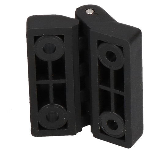 Black Polymide Hinge Reinforced Plastic 39x39mm Italian Made Industrial Quality