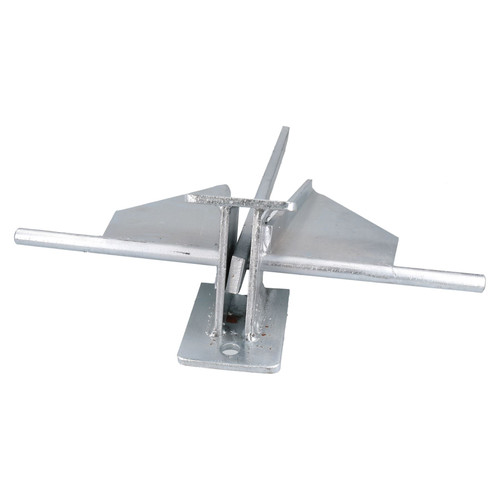 Crown Stock Spade Cruising Anchor 10kg Galvanised for Large Boats / Yachts