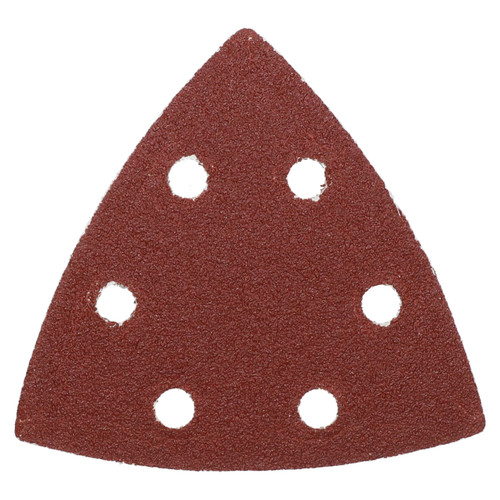 100 Hook Loop Delta Sanding Abrasive Discs Pads 93mm Triangle 80 Grit Medium