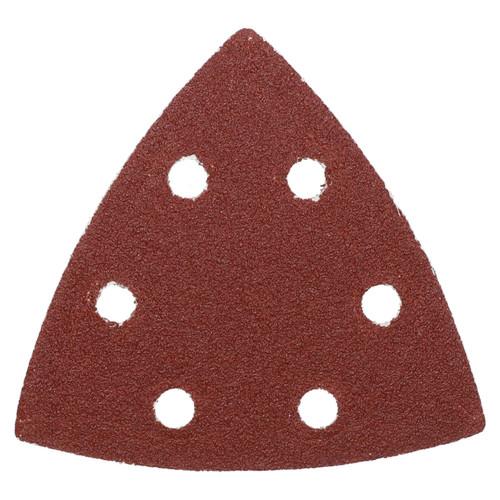 100 Hook Loop Delta Sanding Abrasive Discs Pads 93mm Triangle 80 Grit Medium