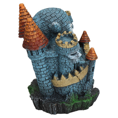 Aquatic Aquarium Decor Sinister Skull Castle Fish Tank Ornament 10x8x10cm