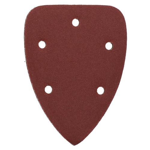 Hook And Loop Detail Sanding Pads Discs 140mm Triangular 80 Grit Medium 50pc