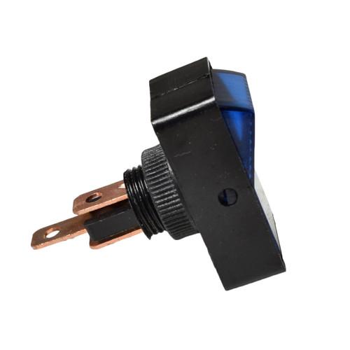 Blue Rocker Switch Illuminated ABS Plastic 12V 16 Amp On / Off Car Dashboard