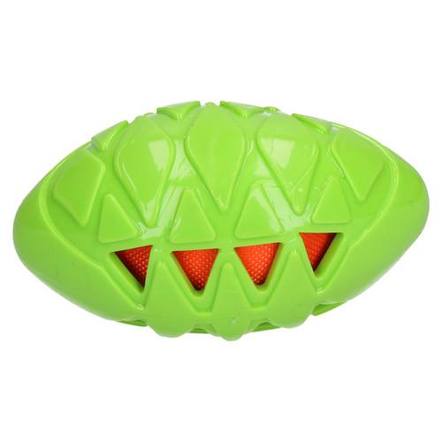 "Dog Play Time Tough Crunch Rugby Ball Dog Toy Medium 13cm/5"""