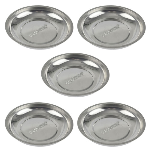 """Magnetic Parts Tray Square 10/"""" Storage Holder Stainless Steel 4 Magnets Bergen"""