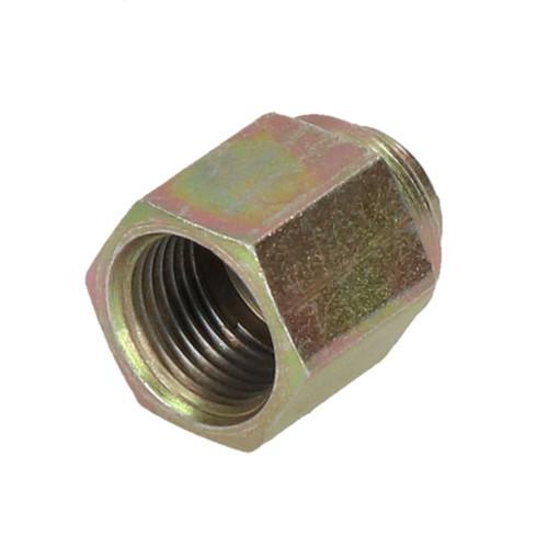 "10 Steel Female Brake Pipe Union Fittings 12mm x 1mm DIN for 1/4"" Brake Pipe"