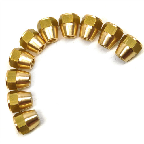 """7/16"""" x 20 UNF Male and Female Brass Brake Pipe Fittings for 1/4"""" Pipe 20 Pack"""