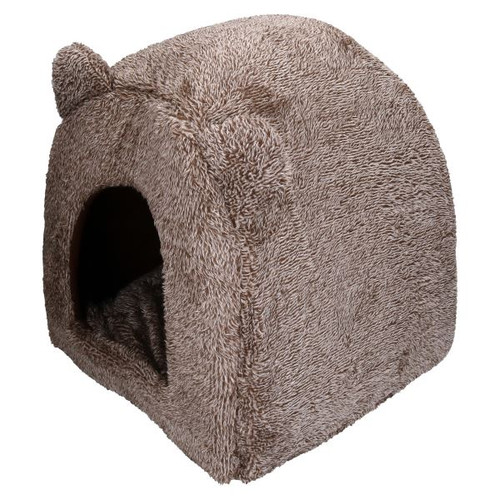 """Cat Bed Time Brown Teddy Bear Cat Bed 38cm/15"""""""