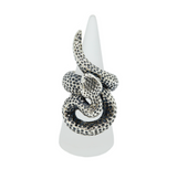 Takohl Large Sterling Silver Snake Ring