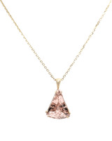 Takohl Custom Morganite and gold pendant
