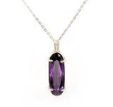 Takohl Elongated Amethyst Necklace