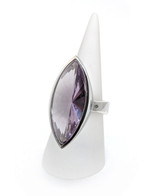 Amethyst Statement Ring in Sterling Silver