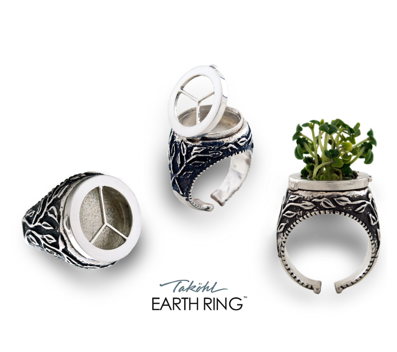 Takohl Earth ring new silver ecological ring