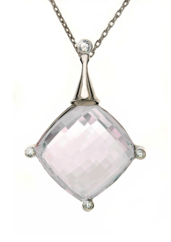 Takohl large rose quartz starbright necklace