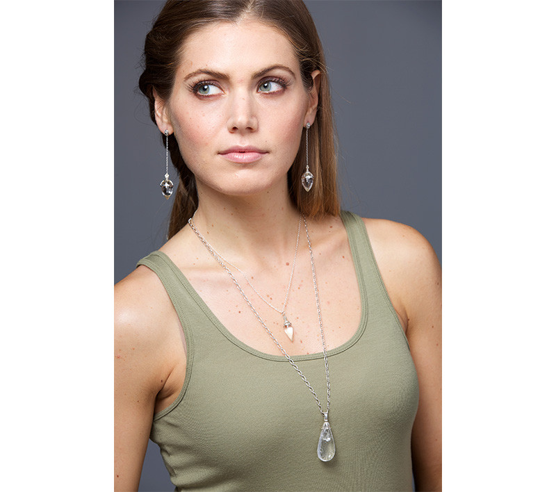 Takohl Silver AValon Necklace