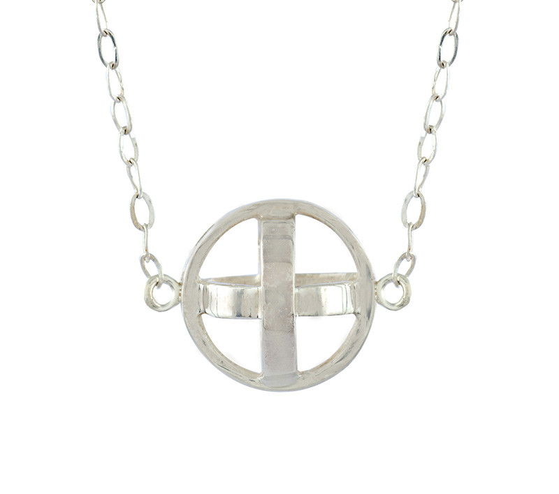 Takohl medieval ball necklace sterling silver
