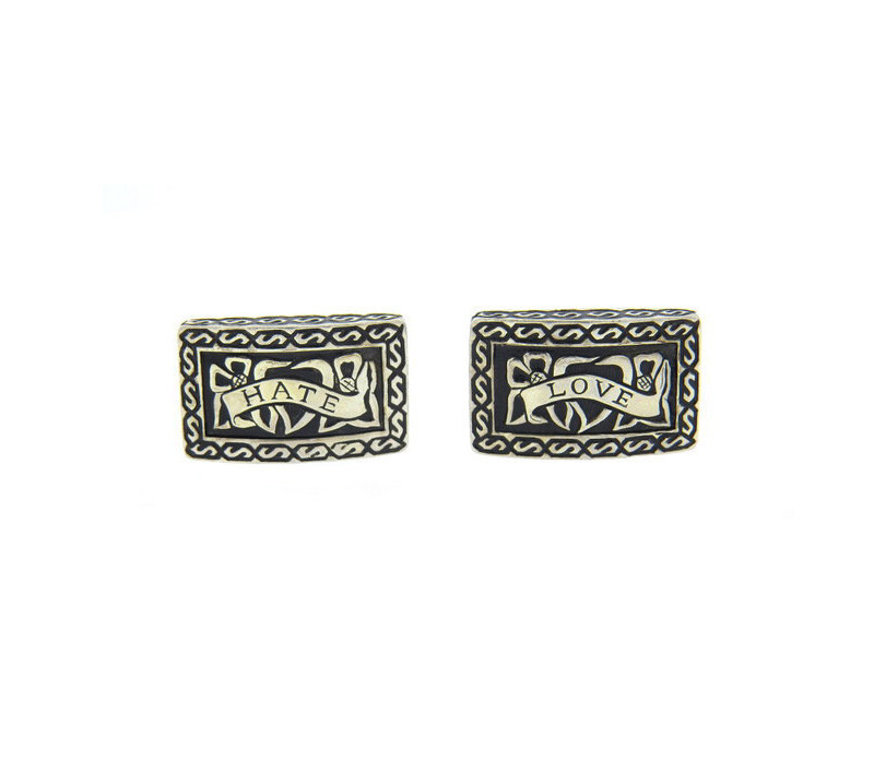 Stephen Webster Sterling Silver Love Hate Cufflinks