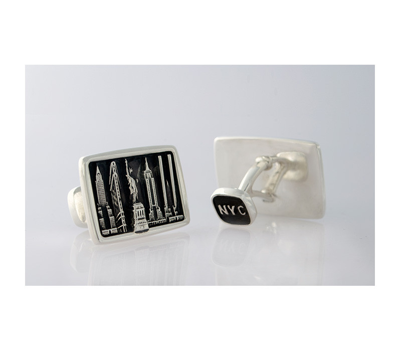 Takohl New York Cityscape Cufflinks