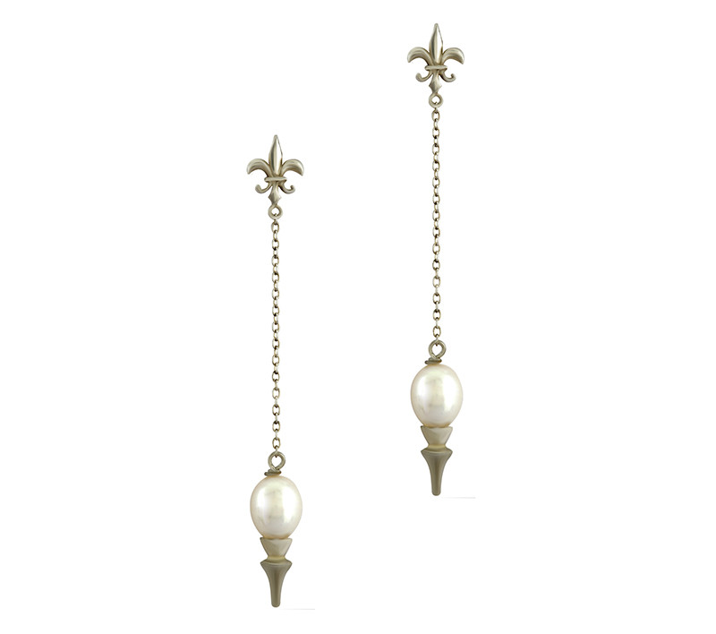 Takohl pearl Pendulum earrings