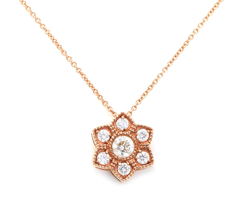 Takohl Sacred Geometry Necklace Rose Gold