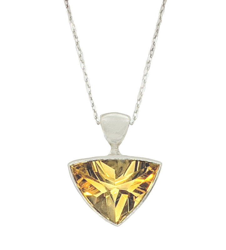 Takohl Sterling Silver and Citrine Necklace