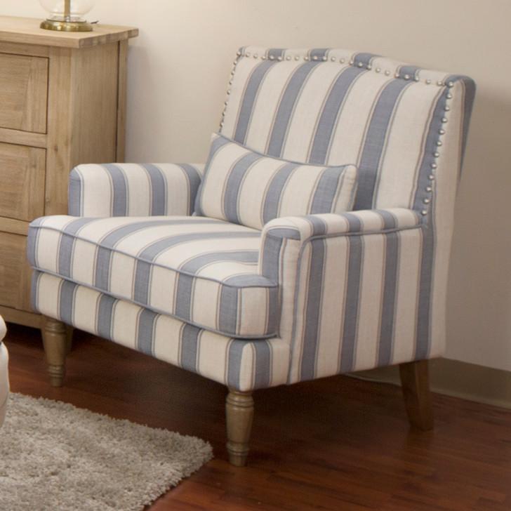 Duchess Striped Fabric Armchair