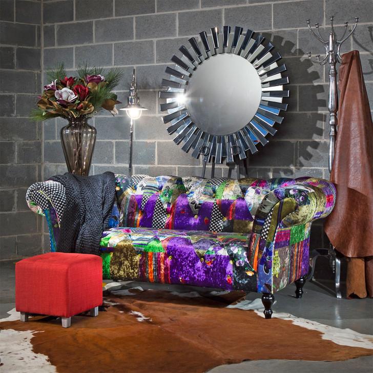 Florin 3 Seater Multicoloured Velvet Sofa