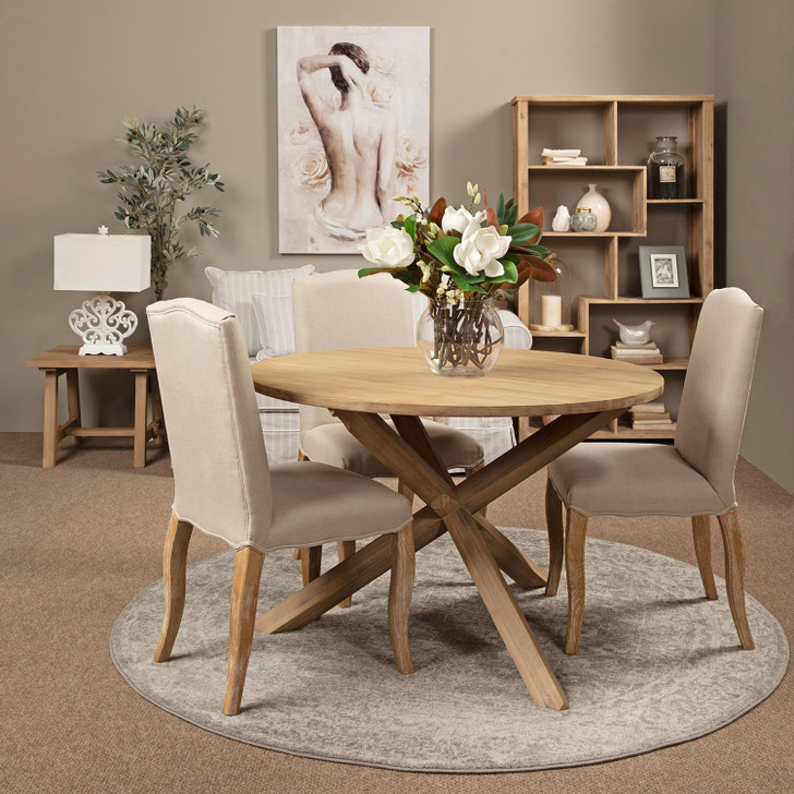 Mali Round Dining Table with Tripoli Chairs