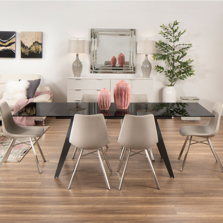 Boston Extension Dining Table with Bresso Chairs