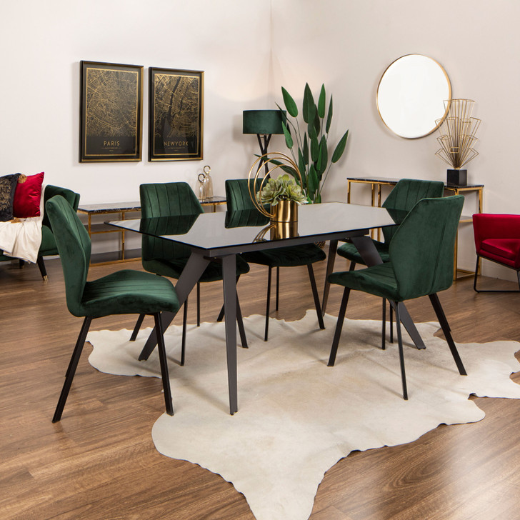 Boston Fixed Dining Table with Oliver Chairs