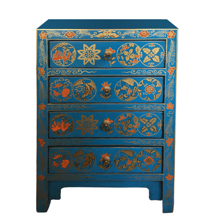 TB-03 - Handcrafted Chinese Cabinet in Blue