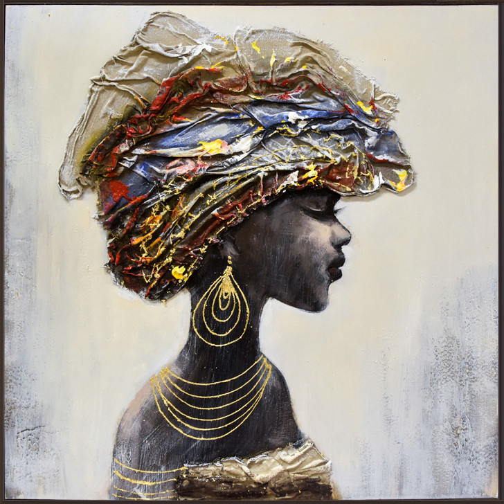 African Girl I Hand Painted Canvas